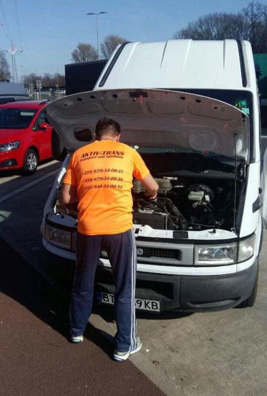 Aktiv-Trans - брандирана тениска и транспортен камион