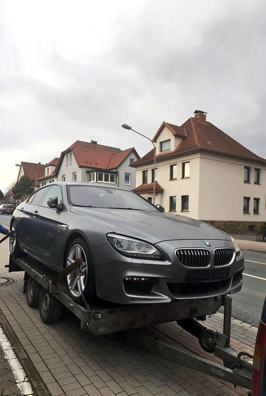 превоз на автомобил БМВ от фирма Актив-Транс